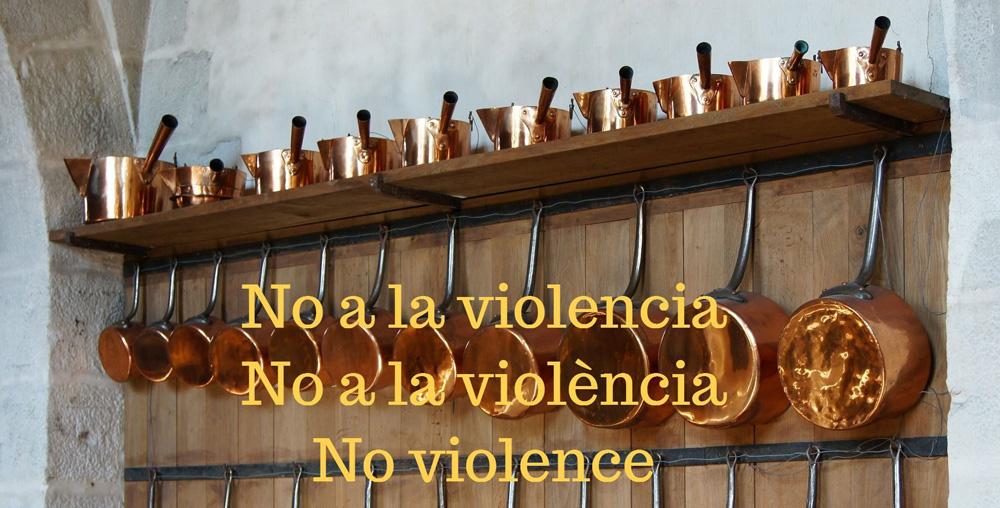 Cocineros catalanes contra la violencia