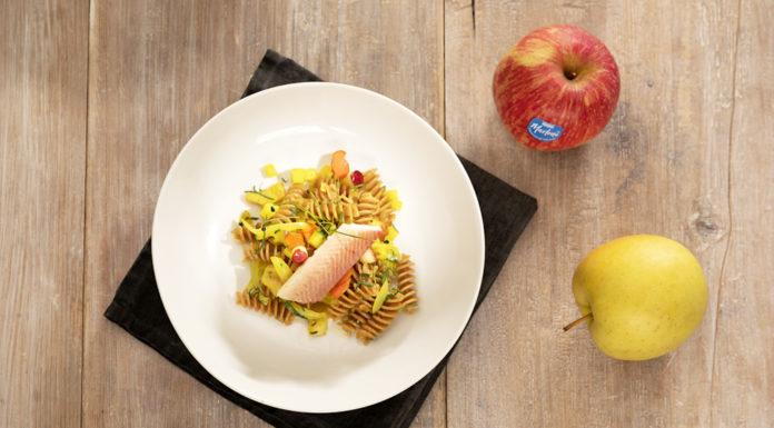 menú completo con manzanas